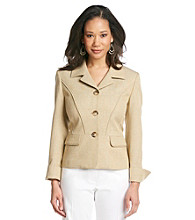 Le Suit® Notch Collar Tweed Jacket