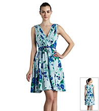 Muse Printed Floral Fit And Flare Dress