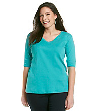 Jones New York Sport® Plus Size V-Neck Tee