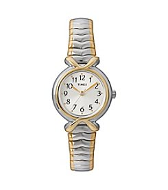 Timex® Women's Silver Dial, Two-Tone Expansion Band