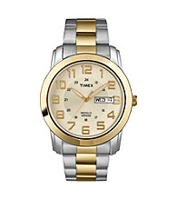 Timex® Men's Sport Bracelet, Champagne Dial with Day/Date Window, Two-Tone Stainless Steel Bracelet