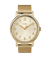 Timex® Women's Originals with Gold Classic round Dial and Goldtone Mesh Bracelet