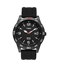 Timex® Men's Sport Collection with Black IP Case, Black Dial, Black Resin Strap