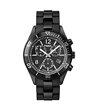 Timex® Men's Originals Chronograph with Black Case, Black Dial and Black Nylon Bracelet