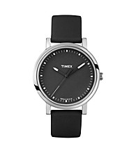 Timex® Women's Originals with Black Classic Round Dial and Black Silicone Strap