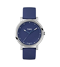 Timex® Women's Originals with Blue Classic Round Dial and Blue Silicone Strap