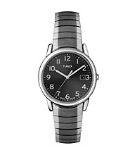 Timex® Men's Gunmetal Case, Gray Dial, Gunmetal Expansion Band