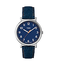 Timex® Women's Originals with Blue Classic Round Dial and Blue Denim Fabric Strap