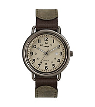 Timex® Men's Originals Black Case, Black Dial, Classic Black Casual Leather Strap
