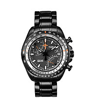Timex® Men's Intelligent Quartz Aviator Fly-Back Chronograph Black-Finish Case, Black Dial, Black Finish Bracelet