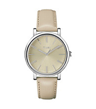 Timex® Women's Originals with Natural Classic Round Dial and Natural Tan Leather Strap