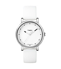 Timex® Women's Originals with White Classic Round Dial and White Silicone Strap