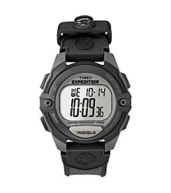 Timex® Men's Expedition Black/Charcoal Chronograph/Alarm/Timer