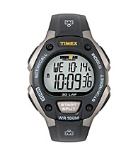 Timex® Men's Ironman Full-Size Black/Gray 30-Lap