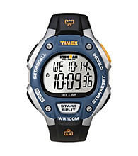 Timex® Men's Ironman Full-Size Blue/Black 30-Lap
