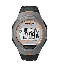 Timex® Men's Ironman Full-Size Black/Gray 10-Lap