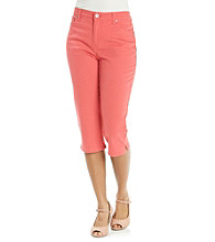 Gloria Vanderbilt® Petites' Fruit Punch Pin Dot Capri