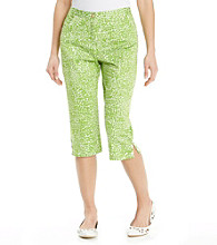 Ruby Rd.® Petites' Green and White Dot Capri