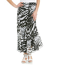 Ruby Rd.® Petites' Tahitian Palm Print Long Skirt