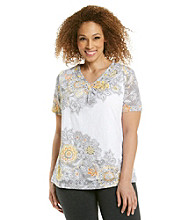 Alfred Dunner® Plus Size Burnout Top