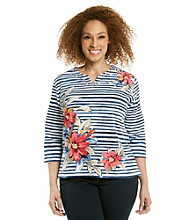 Alfred Dunner® Plus Size Striped Top