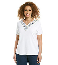 Alfred Dunner® Plus Size Embellished Top