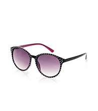 Icon Black Bling Front With Pink Inner Sunglasses