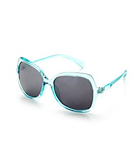 Icon Turquoise Crystal Large Lens Sunglasses