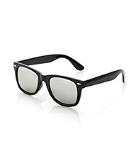 Icon Black Retro Style Sunglasses With Mirrored Lens