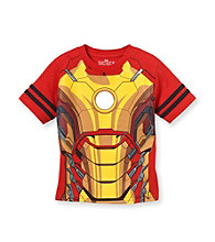 Marvel® Boys' 2T-7 Red Short Sleeve Ironman Body Tee