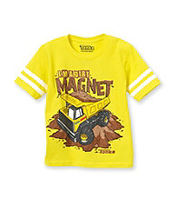 Tonka® Boys' 4-7 Yellow Short Sleeve Dirt Magnet Tee
