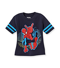 Spider-Man® Boys' 4-7 Navy Short Sleeve Spidy Moves Tee