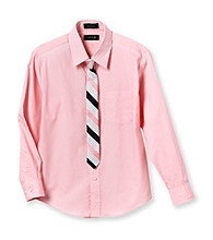 Izod® Boys' 8-20 Pink Dress Shirt with Striped Tie