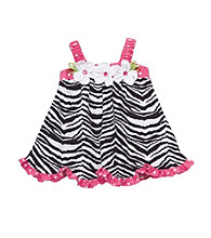 Rare Editions® Girls' 2T-4T Black/White Zebra Print Dress