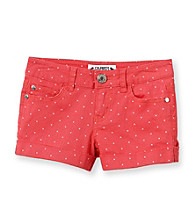 Celebrity Pink Girls' 7-16 Polka-Dot Cuffed Shorts