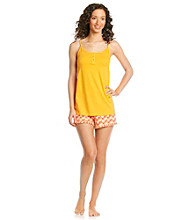 Relativity® Knit Cami/Short Set - Yellow Hearts