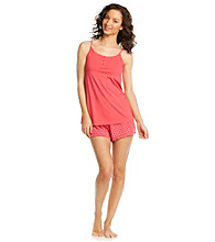 Relativity® Knit Cami/Short Set - Cherry Dots