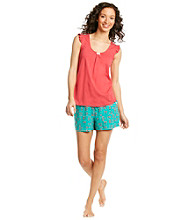 Intimate Essentials® Knit Short Set - Red Cherries