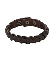 Fossil® Men's Braided Leather Strap with Adjustable Snap Closures