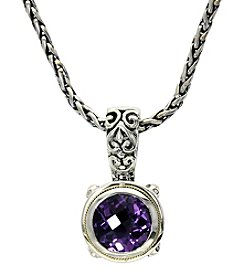 Effy® Amethyst Pendant in Sterling Silver and 18K Gold