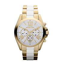 Michael Kors® Goldtone and White Bradshaw Watch