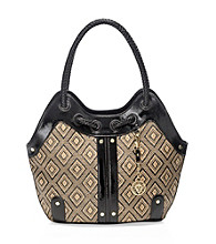 AK Anne Klein® Black Natural Tropical Punch Hobo