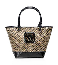AK Anne Klein® Black Natural Tropical Punch Medium Tote