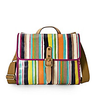 Fossil® Bright Stripe Key-Per Flap Bag