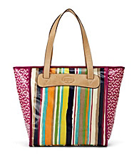 Fossil® Bright Stripe Key-Per Shopper