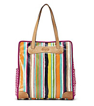 Fossil® Bright Stripe Key-Per Tote