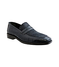 Giorgio Brutini® Men's Croco/Lizard Suede Moc-toe Slip-on