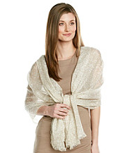 Calvin Klein Latte Light Weight Printed Crepe Wrap