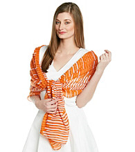 Basha Orange Striped Neckwrap