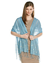 Collection 18 Chambray Beaded Cross Stitch Wrap